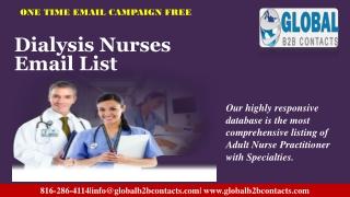 Dialysis Nurses Email List