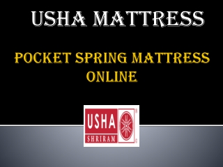 Online Aloe Vera fabric Pocket Spring Mattress – Usha Mattress