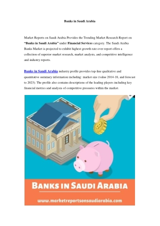 Saudi Arabia Banks Market: Growth, Opportunity and Forecast Till 2023