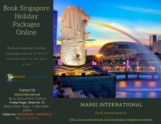 Book Singapore & Malaysia Tour Packages For Holiday