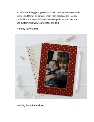 Stunning Designs of Holiday Cards from 123WeddingCards