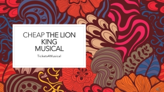 Cheap Tickets for The Lion King