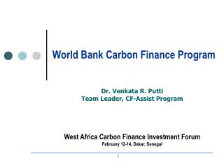 World Bank Carbon Finance Program