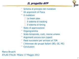 IL progetto AFP