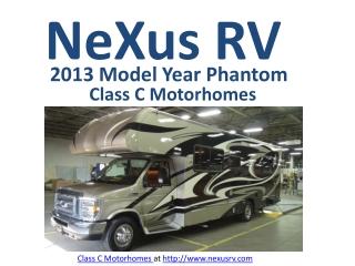 Class C Motorhomes with Custom Paint Options by NeXus RV