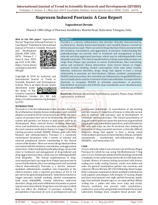 Naproxen Induced Psoriasis: A Case Report