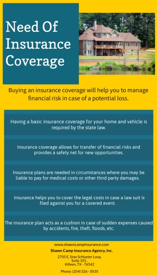 Need Of Insurance Coverage