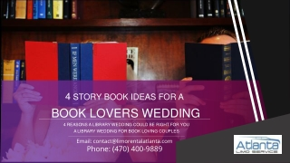 4 Reasons A Library Wedding Could be Right For you