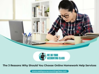 The 3 Reasons Why Should You Choose Online Homework Help Services