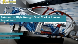 Automotive High Strength Steel Market Research Report 2020