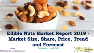 Edible Nuts Market Report 2019 – Market Size, Share, Price, Trend and Forecast