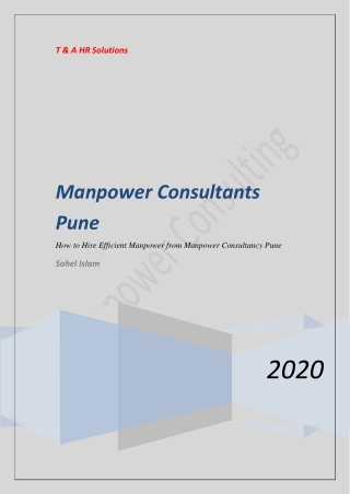How to Hire Efficient Manpower from Manpower Consultancy Pune