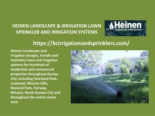 Heinen landscape & irrigation lawn sprinkler and irrigation systems