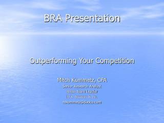 BRA Presentation