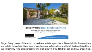 Beverly Hills Real Estate Agencies