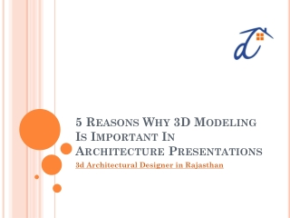 5 Reasons Why 3D Modeling Is Important In Architecture Presentations