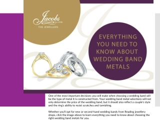 Everything You Need to Know about Wedding Band Metals