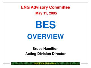 ENG Advisory Committee May 11, 2005