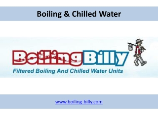 Boiling & Chilled Water - www.boiling-billy.com