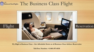 The business Class Flight Reservation