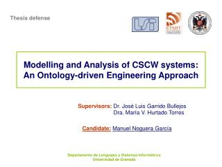 Modelling and Analysis of CSCW systems: An Ontology-driven Engineering Approach