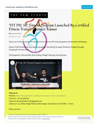 """""""FIT DIL SE"""" Fitness Program Launched By Certified Fitness Trainer - Sameer Kumar"""