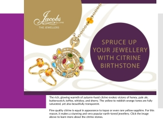 Spruce Up Your Jewellery With Citrine Birthstone