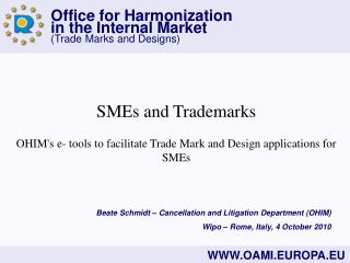 SMEs and Trademarks