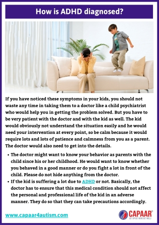How is ADHD diagnosed   ADHD Centres in Bangalore, Hulimavu   ADHD Clinic Near Me