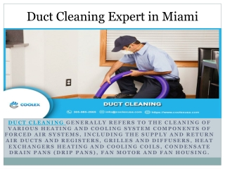 Deal With Air Duct Cleaning Expert