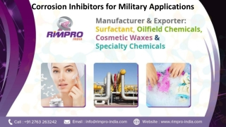 Corrosion Inhibitors for Military Applications