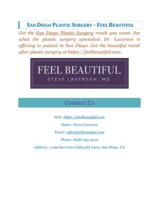 Cosmetic Surgeon San Diego