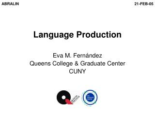 Language Production