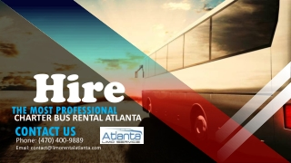 Hire the Most Professional Party Bus Rental Atlanta