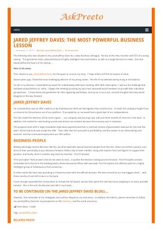 Jared Jeffrey Davis