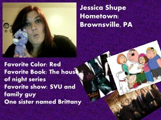 Jessica  Shupe Hometown: Brownsville, PA