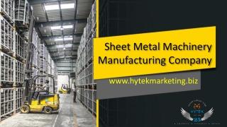 Sheet metal machinery manufacturing company