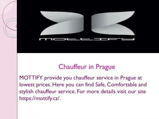 Chauffeur in Prague