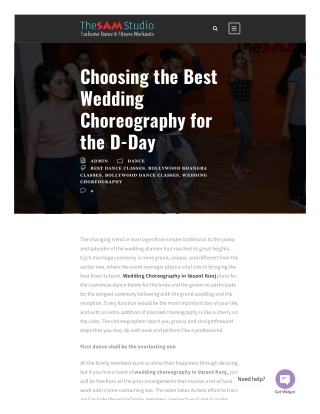Choosing the Best Wedding Choreography for the D-Day