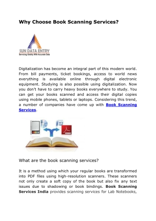 Why Choose Book Scanning Services?