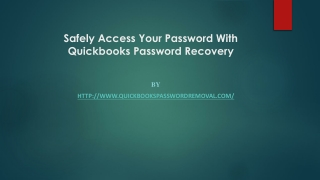 Safely Access Your Password With Quickbooks Password Recovery