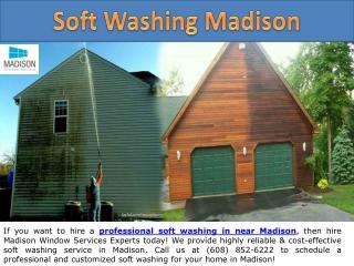 Soft Washing in Madison