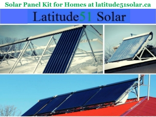 Solar Panel Kit for Homes at latitude51solar.ca