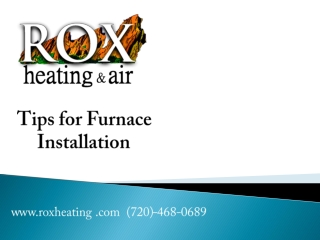 Tips for Furnace Installation