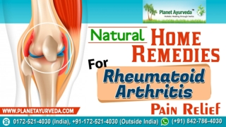 Home Remedies for Rheumatoid Arthritis Pain Relief
