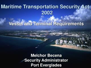 Maritime Transportation Security Act  2002
