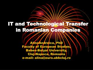 IT and Technological Transfer in Romanian Companies