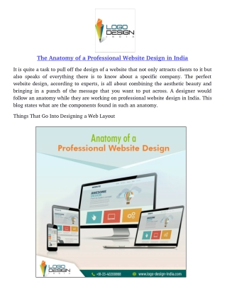 The Anatomy of a Professional Website Design in India
