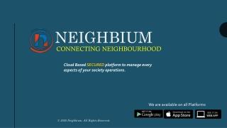 Comprehensive Society Management System   Neighbium