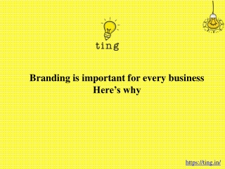 Branding is important for every business: Here's why